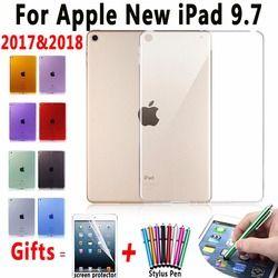 Tpu Couverture pour Apple iPad 9.7 2017 Cas Silicone Transparent Cas pour ipad 9.7 A1822 A1823 Slim Effacer Cover pour Nouvel iPad 9.7