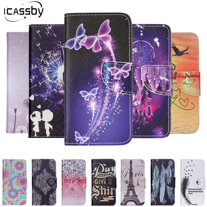 Luxury PU Leather Case Capa For Alcatel One Touch Idol 3 4.7 inch 6039 Protective Phone Coque Flip Stand Wallet Cover Funda Etui