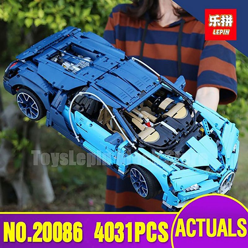 DHL Lepin 20086 Technic Series Toy Compatible with LegoINGlys 42083 Blue Racing Car Set Building Blocks Bricks KidS Model Gift