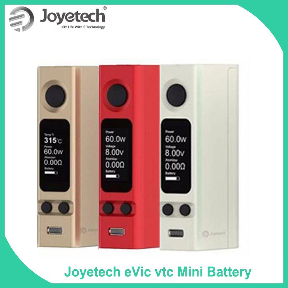 Big Sale 100% Original Joyetech eVic VTC Mini Box Mod 75W eVic-VTC Mini Mod Temp Control E-Cigarette Red color  Mod vape
