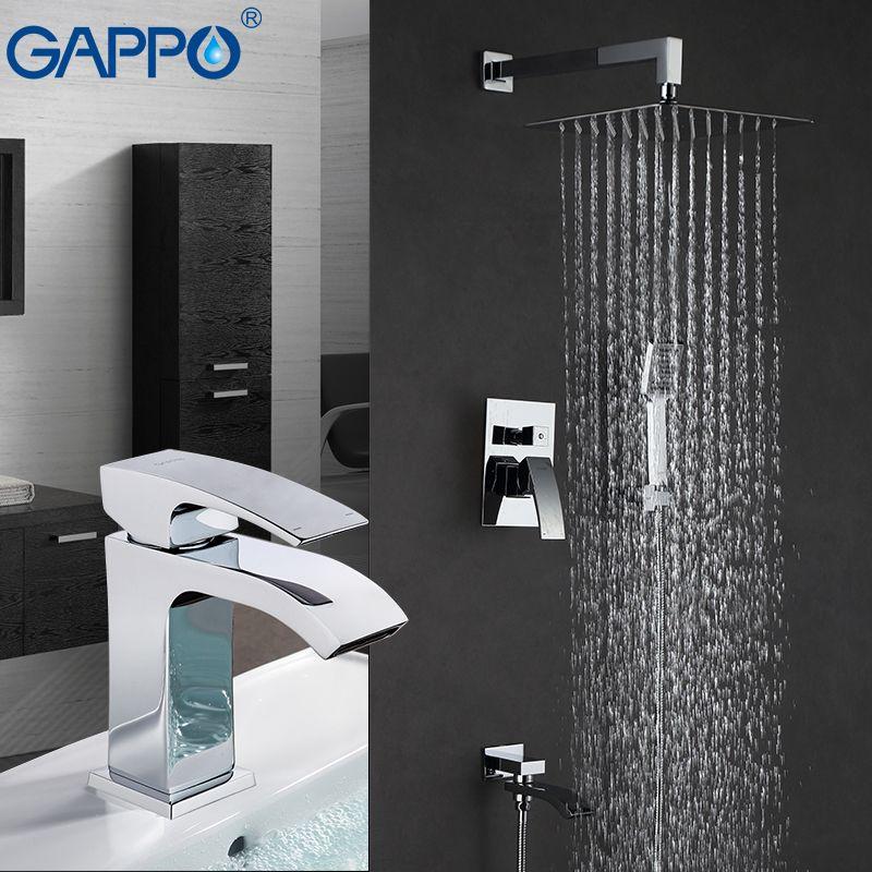 GAPPO Dusche Armaturen dusche mischbatterie bad duschkopf becken wasserhahn wasserfall mischbatterie wasserhahn dusche system