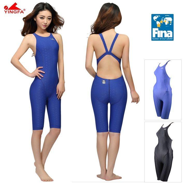 Yingfa FINA approbation professionnelle une pièce maillots de bain femmes maillot de bain sport course compétition serré musculation maillot de bain