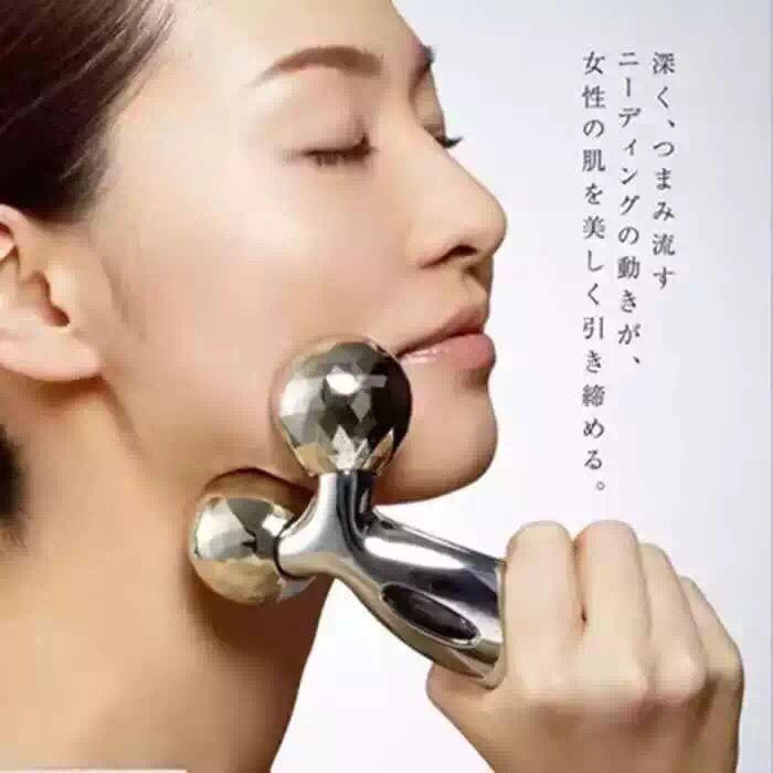 Mince visage artefact mince visage de rouleau machine V visage masseur mince visage instrument à double menton musculaire maigre 3 d boule de massage