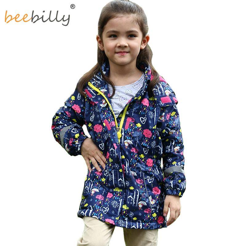 BEEBILLY New Girls Jackets Warm Polar Fleece Jackets For Girls Winter Autumn Waterproof Windbreaker Kids <font><b>Coat</b></font> Children Outerwear