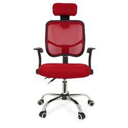 Ajuste de altura del asiento Oficina escritorio de la computadora silla cromo malla ventilar asiento