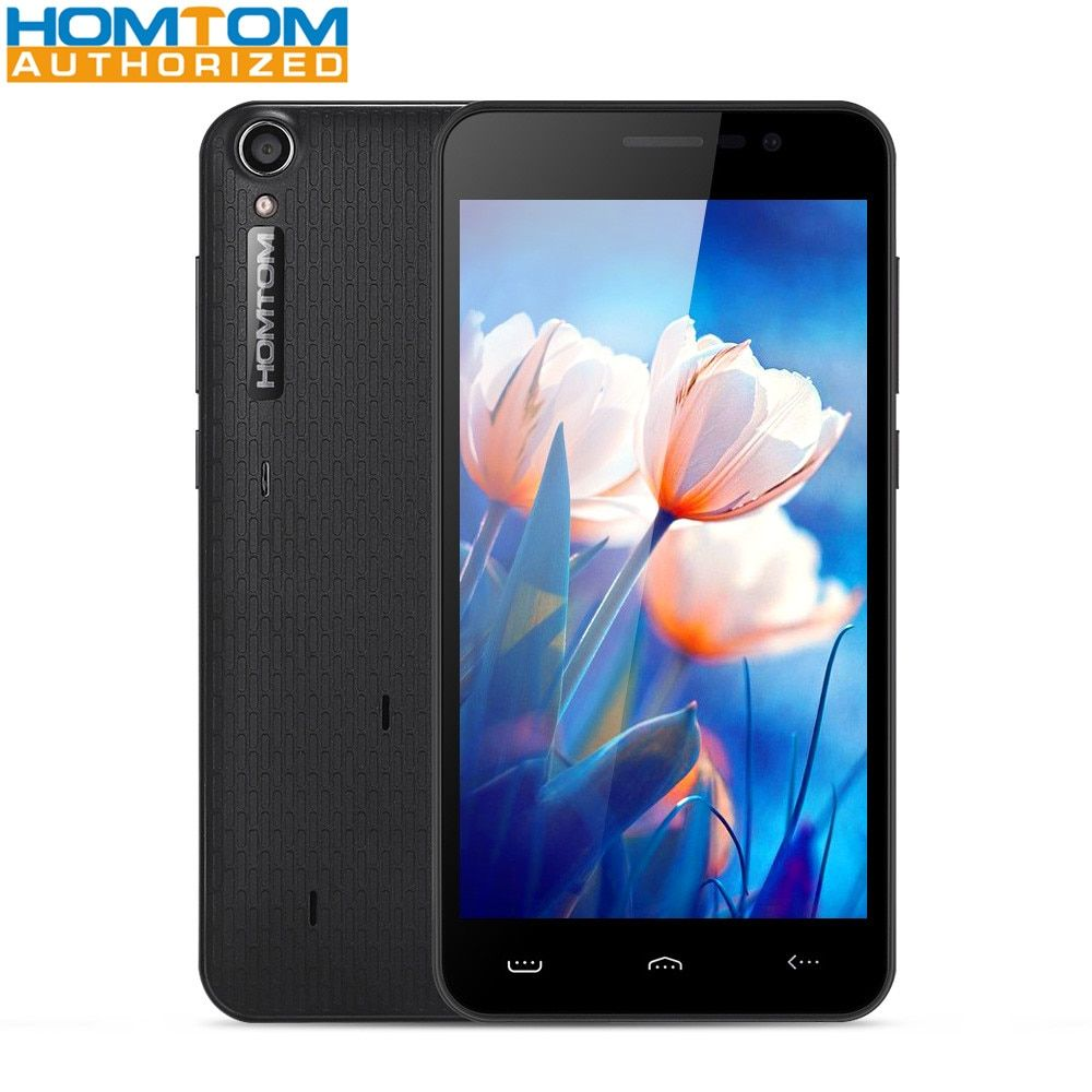 3000mAh Homtom HT16 5.0 inch 3G Smartphone MTK6580 Quad Core 1GB RAM 8GB ROM Wakeup Gesture 5MP Camera Mobile Phone
