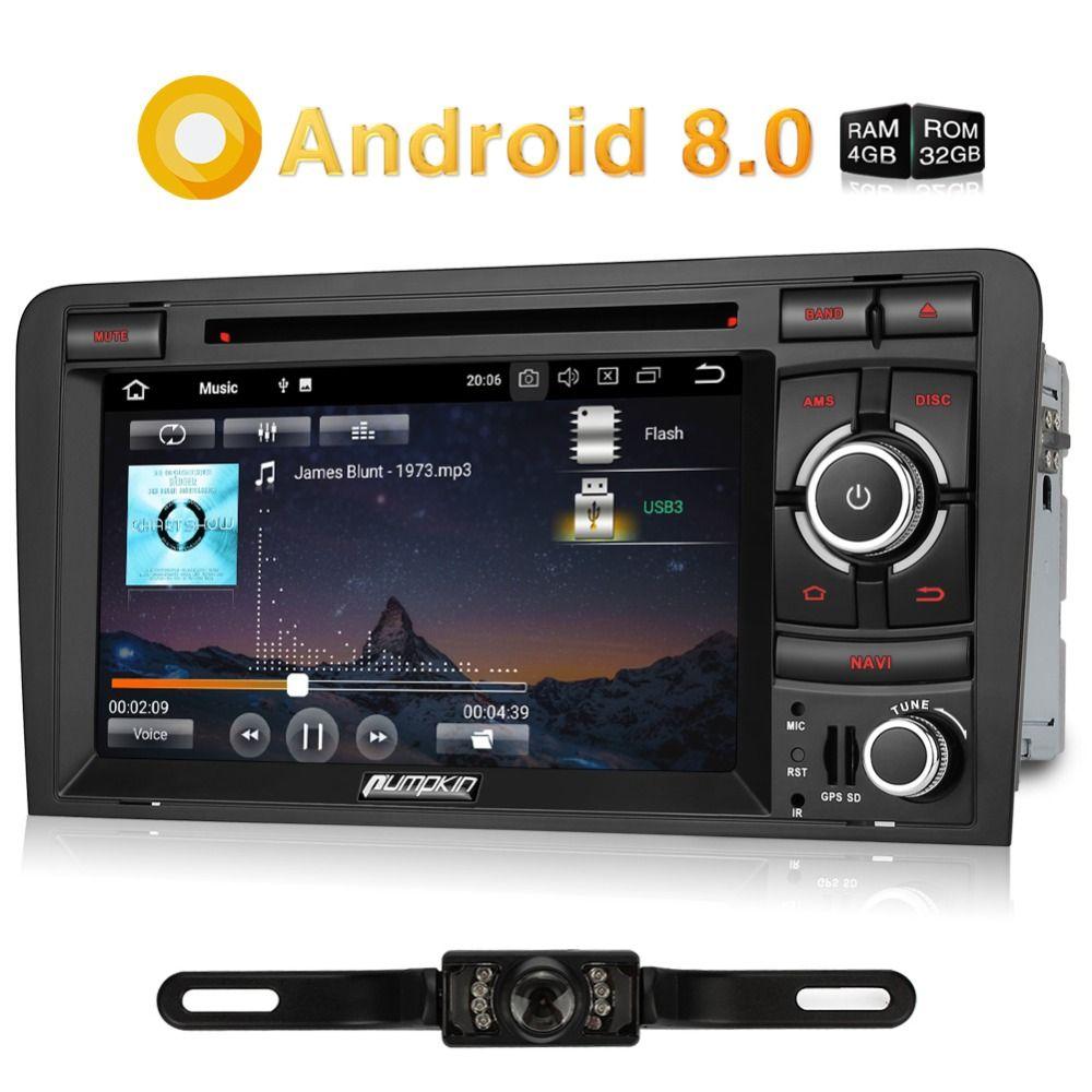 Kürbis 2 Din 7 ''Android 8.0 Auto Multimedia-DVD-Spieler GPS-Navigation Bluetooth Auto Radio Wifi Autoradio Für Audi A3 2003-2011