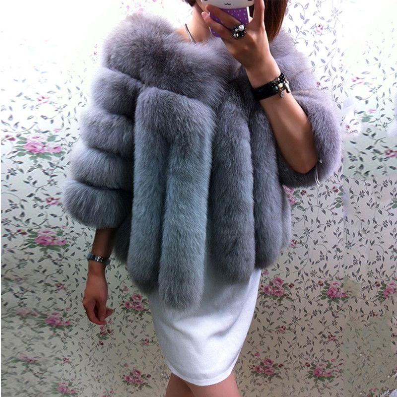 FURSARCAR Winter Natürliche Echt Fox Pelz Mäntel Frauen Neue Mode Dicke Warme Kurze Pelz Jacke outwear Echt Fuchs Pelz Mantel für Weibliche