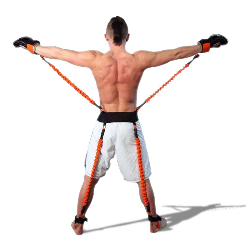Strong Power Boxing Resistance Bands Endurance Agility Pull Rope Crossfit Rubber Resistance Band Basketball Leap Training Rope