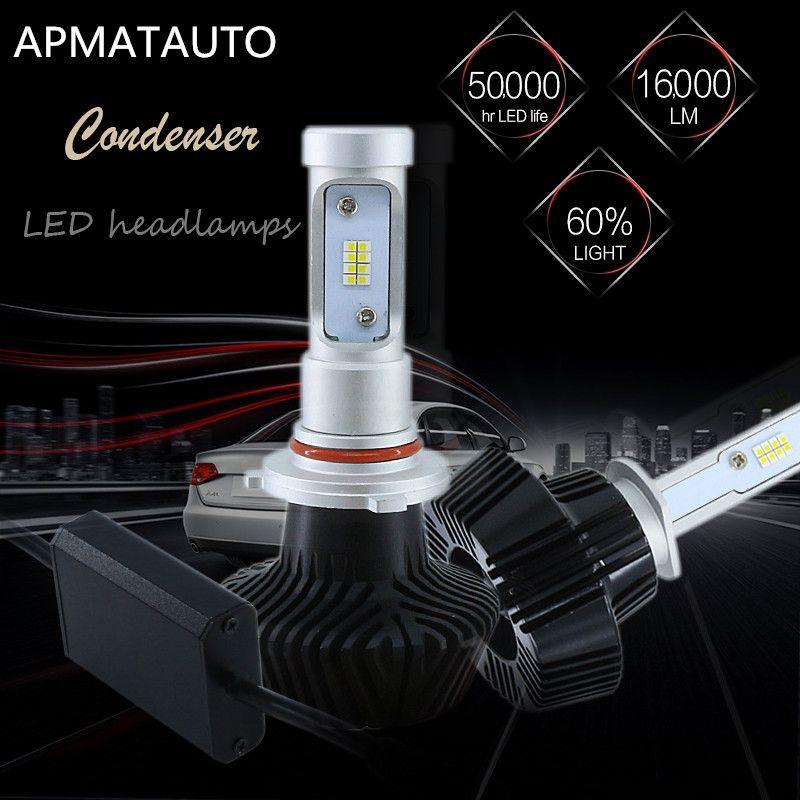 2X H1 H3 H4 H7 H8 H9 H11 880 881 <font><b>9005</b></font> HB3 H10 9006 HB4 880 881 H27W 16000LM Car LED Headlights Bulb Head Lamp Fog Light 6000K