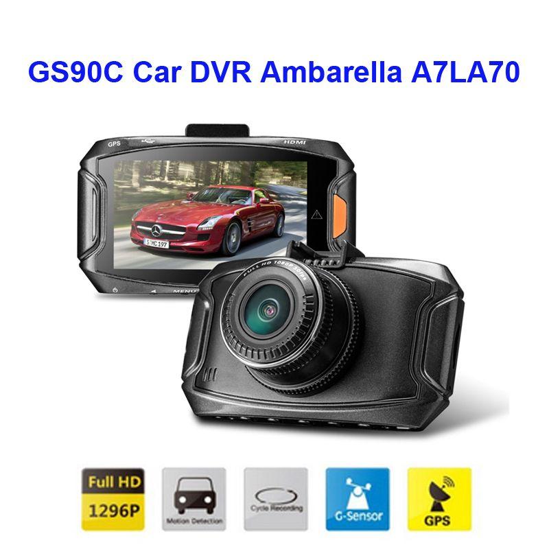 Freies Verschiffen!! Original GS90C Auto DVR Ambarella A7LA70 2304*1296 P 30fps 2,7 Zoll LCD 170 Weitwinkel G-sensor + GPS Schlagkamera