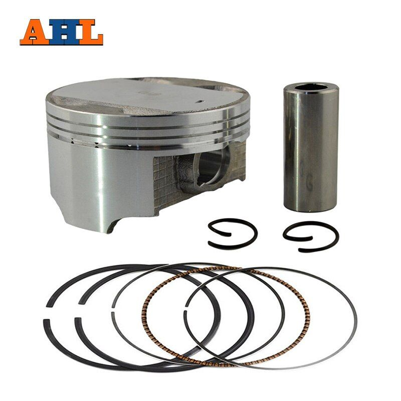 AHL Bore Size 74mm Motorcycle +100 Piston Set with Pin Rings Clip Kit For Suzuki AN250 1998-2006 / DR250 1990-1995