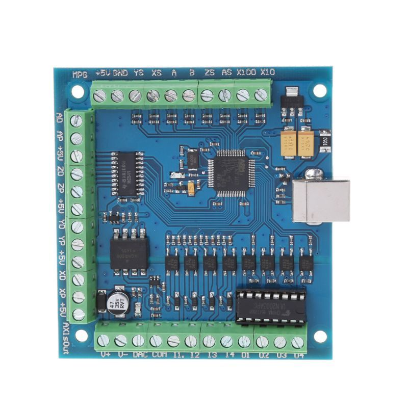12-24V CNC MACH3 USB 4 Axis 100KHz Stepper Motion Controller Card Breakout Board Free shipping New arrival