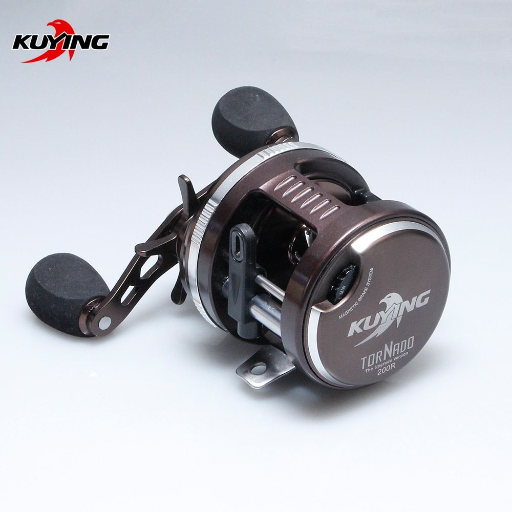 KUYING Tornado Left Right Handed Lure BaitCasting Casting Fishing Reel Vessel Drum Wheel Saltwater Fish Line Coil Free Shipping
