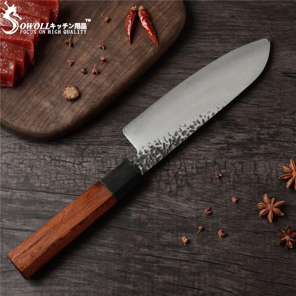 SOWOLL Damaskus Hacken Messer VG10 Hand Made Beschläge Japanischen Messer Damaskus Klinge Küche Chef Knive Sehr Sharp Nakiri Cleaver