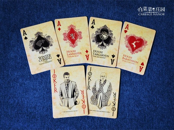 Free shipping HBO TV series Game of Thrones poker playing cards song of fire and ice derivative products novelty poker present
