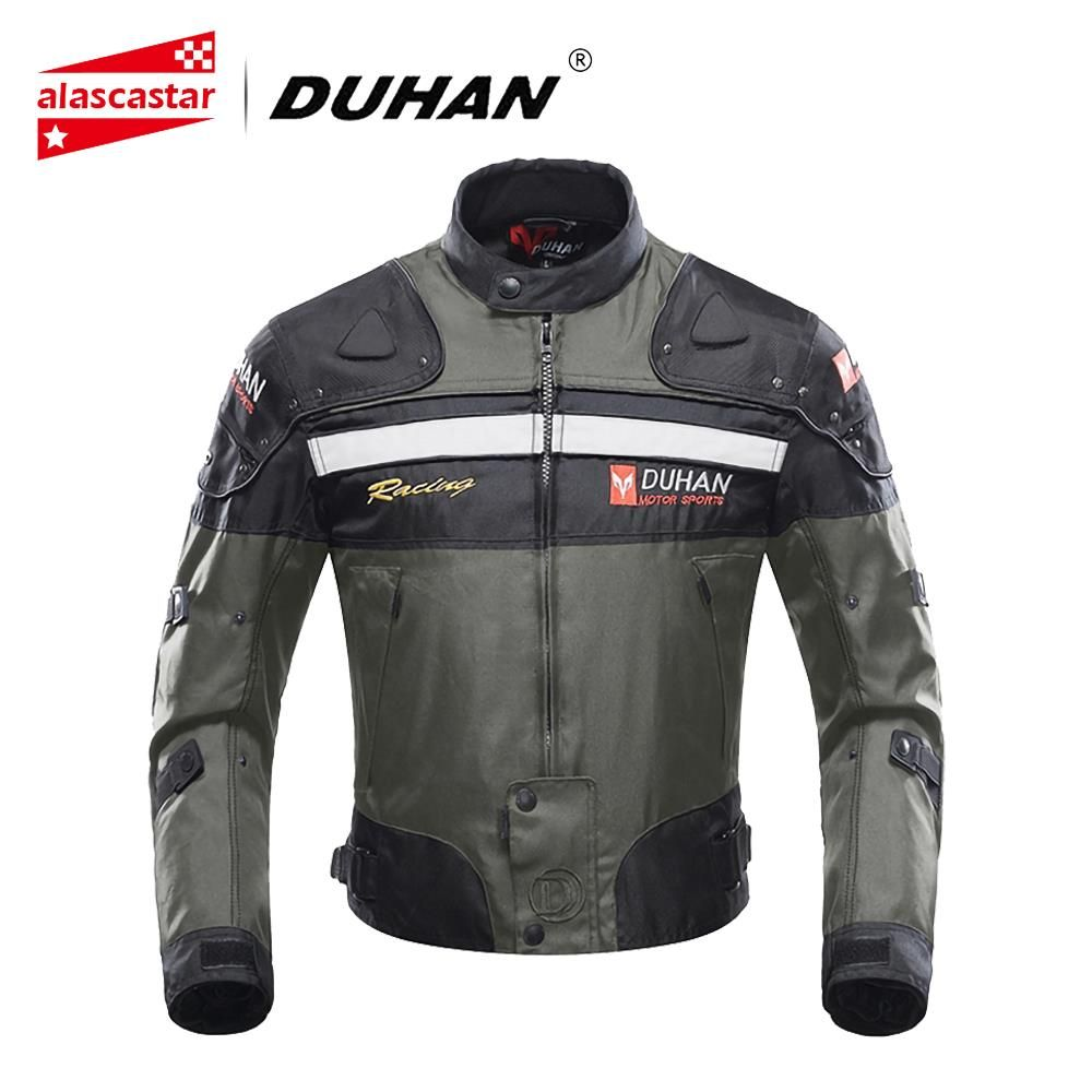 DUHAN Motorcycle Jackets Men Riding Motocross Enduro Racing Jacket Moto Jacket Windproof Motorbike Clothing Protective Gear