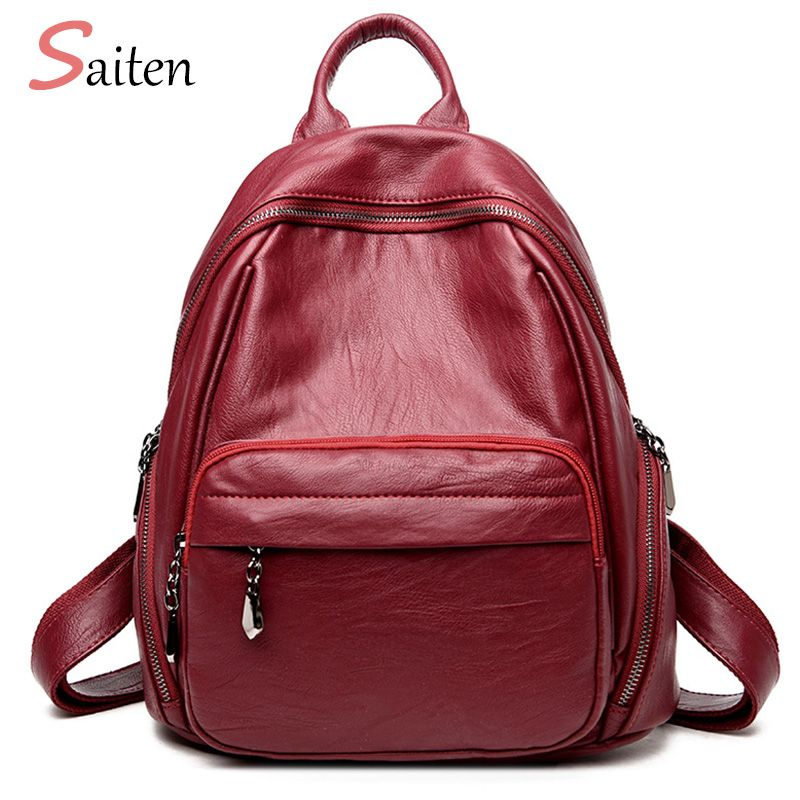 Fashion Woman Backpack 2017 Leather Brands Female Backpacks High Quality Schoolbag Backpack Elegant Mochilas Escolar Feminina