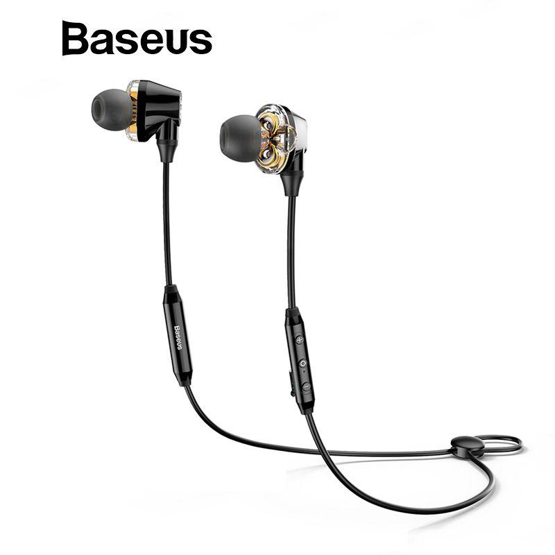 Baseus S10 Doppel dynamische bluetooth kopfhörer/H10 3,5mm Wired Kopfhörer stereo bass sound kopfhörer mit mic für mobile telefon