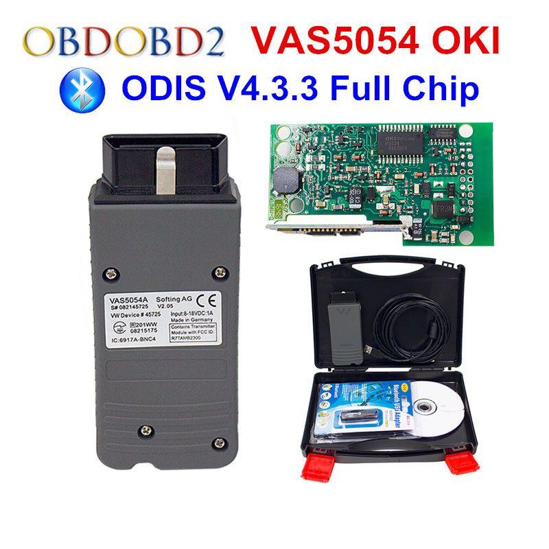 Original VAS 5054A With OKI Keygen VAS5054A Bluetooth ODIS 4.3.3 For VW/AUDI/SKODA/SEAT VAS 5054 Full Chip Support UDS Protocols