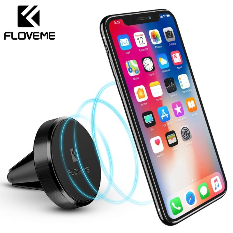 FLOVEME Magnetic Car Phone Holder For iPhone X Magnet Mini Air Vent Outlet Car-Styling Phone Mount Stand Holder For Phone In Car