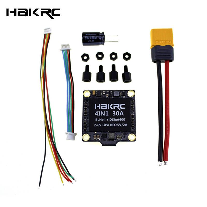 Hot New Hakrc 30A 30amp 4 In 1 ESC BLHeli_S BB2 2-6S Dshot600 Built-in 5V 2A BEC For FPV Racing Drone