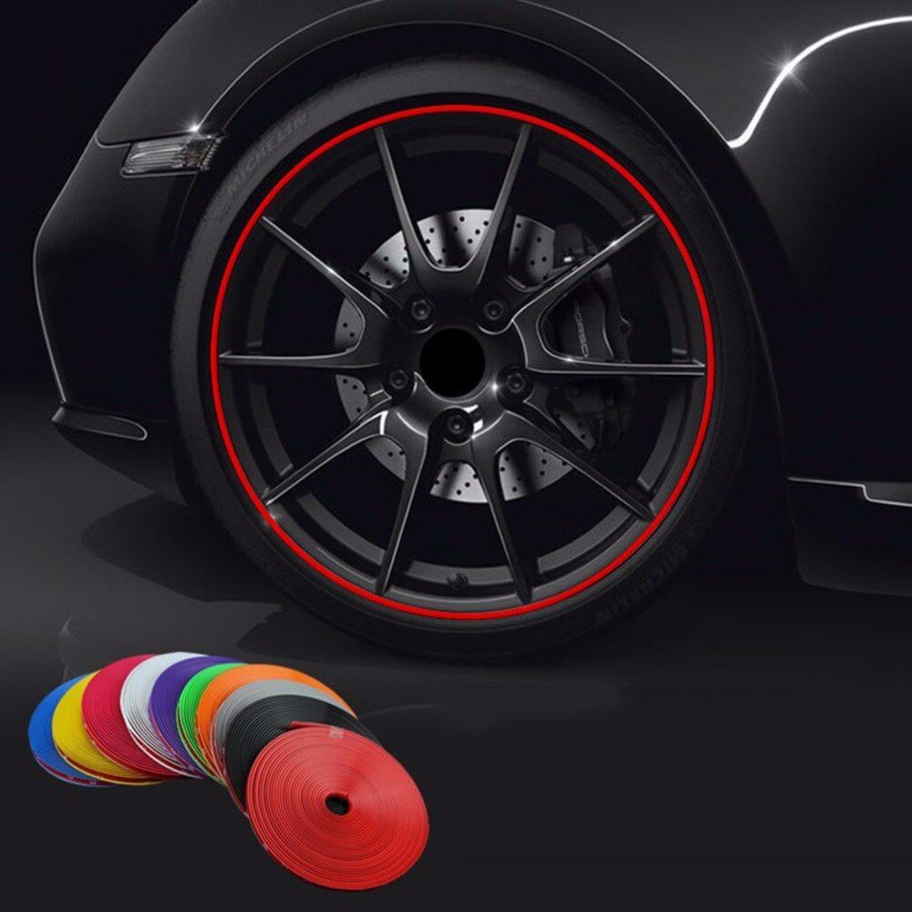 8M/ Roll New Styling IPA Rimblades Car Vehicle Color Wheel Rims Protectors Decor Strip Tire Guard Line Rubber Moulding Trim