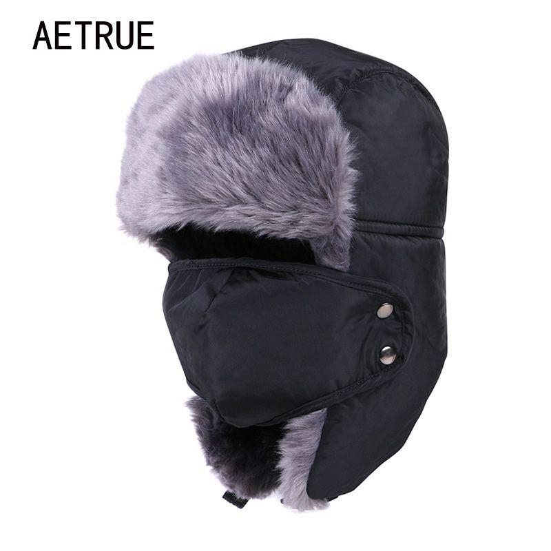 Chapeau d'hiver Bomber chapeaux pour hommes femmes épaissir cagoule coton fourrure hiver Earflap garder au chaud casquettes russe crâne masque Bomber chapeaux
