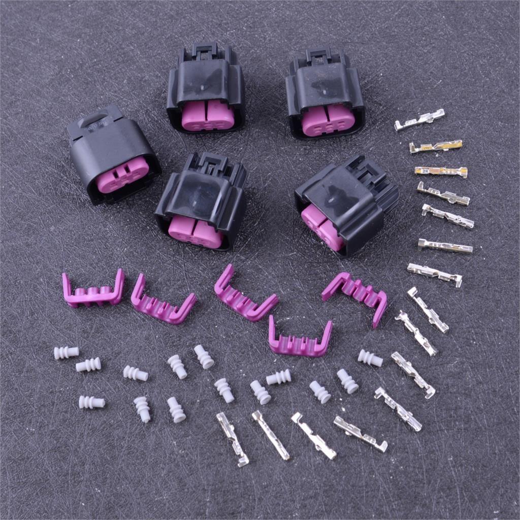 Beler 5 Pcs Ethanol Flex-Fuel-Sensor Stecker Stecker Verdrahtung Zopf Harness Körper Kit 13577394 Fit für GM E85 Zubehör