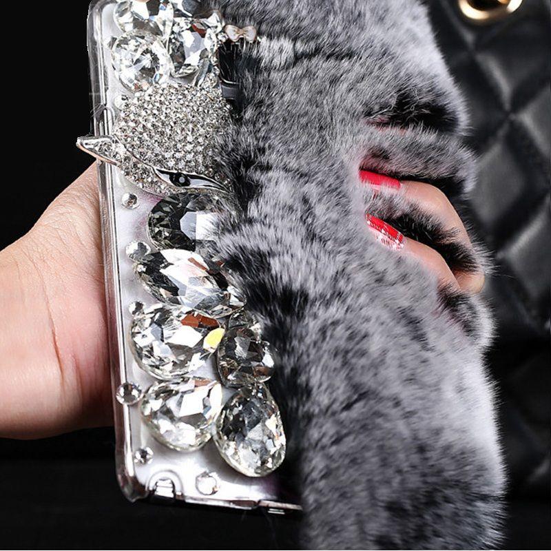 LANCASE Pour Samsung Galaxy J5 2016 Cas Glitter Fourrure De Lapin Bling diamant TPU Cas Pour Samsung Galaxy A5 2017 2016 S7 Bord couverture
