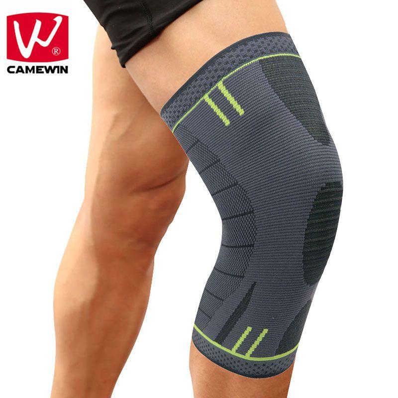 CAMEWIN 1 STÜCKE Knieschützer Knie Unterstützung für Laufen, joggen, Basketball, Sport, gemeinsame Schmerzlinderung, Arthritis und Verletzungen Recovery
