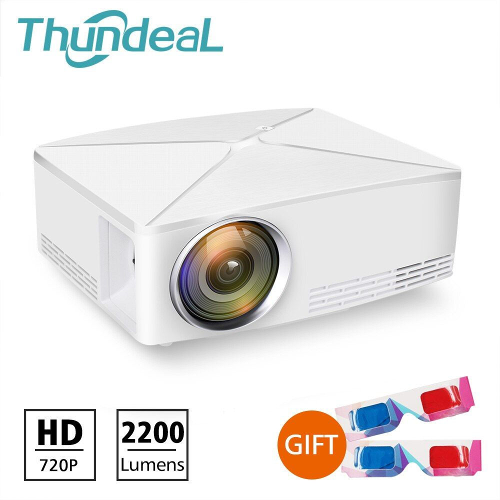 ThundeaL GP70 Upgrade TD80 Mini LED Projector 1280x720 Portable HD HDMI Video C80 3D LCD ( TD80UP Android WiFi Beamer Optional)