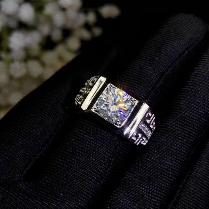 Moissanite, 925 Silber mode-design, starke feuer farbe, diamant, hohe härte 2CT. VVS, D