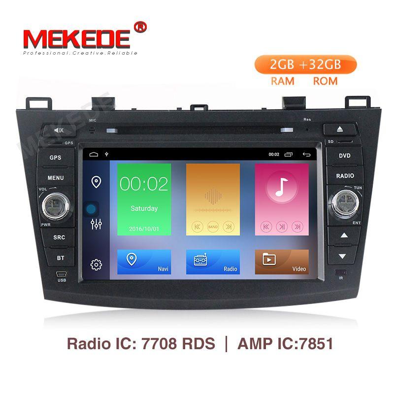 MEKEDE 2 + 32G HD Android 9.1 Auto DVD Für Mazda 3 Axela 4G Internet Auto GPS Multimedia Mazda 3 2010-2013 BT4.0 WIFI Option TPMS