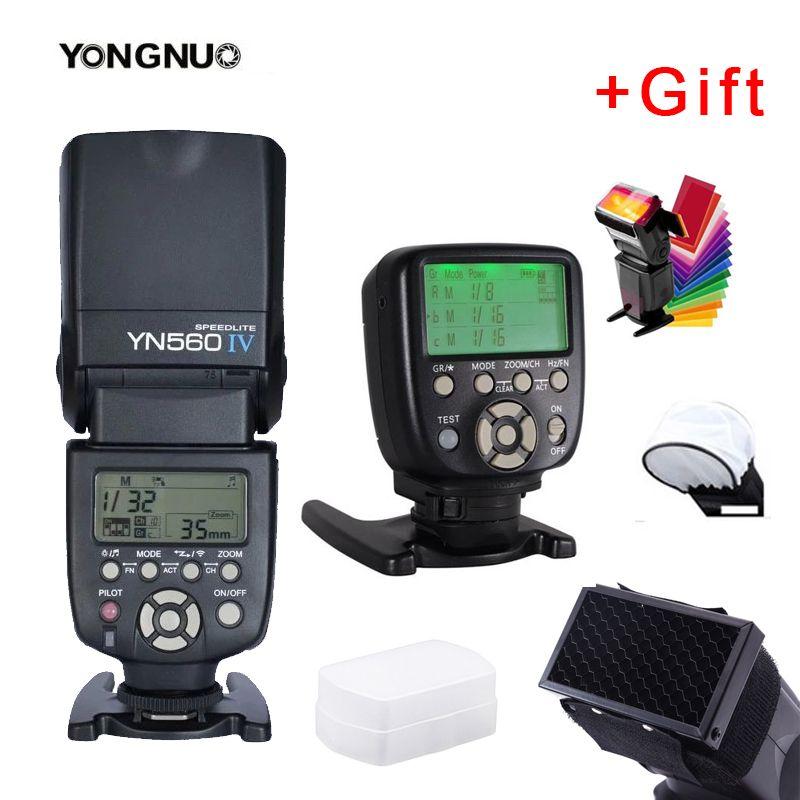 Yongnuo YN560IV YN560 IV YN 560 Flash Speedlite avec contrôleur de déclenchement YongNuo YN560-TX II pour appareil photo Canon Nikon Fuji