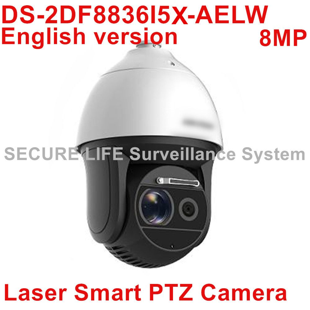 HIKVISION DS-2DF8836I5X-AELW 4K Laser Smart CCTV IP PTZ Camera POE 4K 8MP with wiper 36x optical zoom 500m IR H.265+
