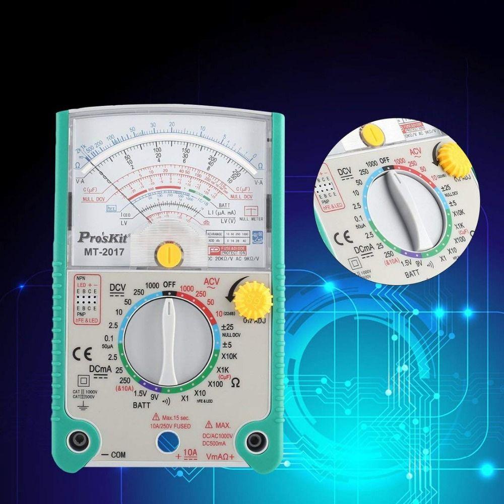 Vente 2017 haute qualité Proskit MT-2017 AC/DC LCD fonction de protection analogique multimètre livraison gratuite