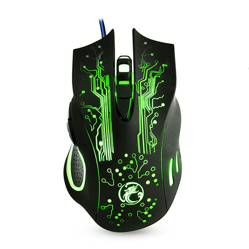 Wired Gaming Mouse USB Computer Mice 5000DPI Optical Mouse 6 Buttons Gamer Mouse X9 for PC Laptop Desktop Mouse