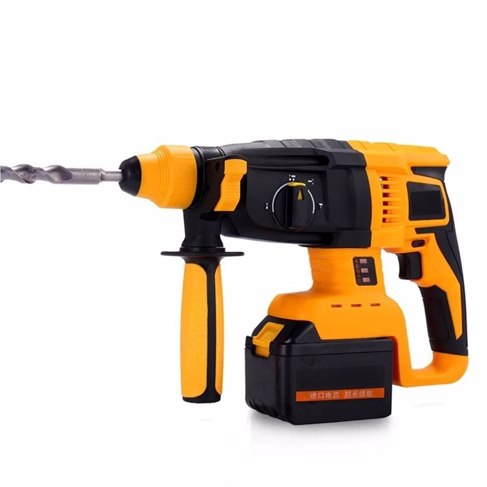 Cordless electric rotatory hammer drill lithium battery brushless motor wall impact drill screwdriver rechargeable power tools