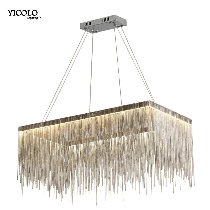 Modern designer decorative Pendant Lights for living room Nordic tassel restaurant luxury hotel engineering chain art lighting
