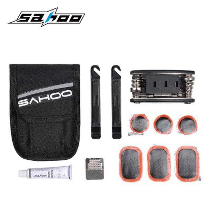 SAHOO vélo classique multi-fonction outils Kit vélo Service Tube réparation clé hexagonale Phillips plat tournevis mamelon siège tige de montage