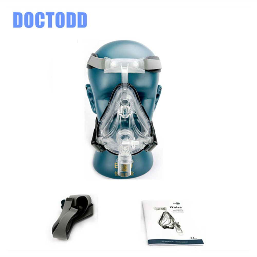 DOCTODDD FM1 Full Face Mask For Anti Snoring CPAP BiPAP Silicone Gel Material W/ Headgear Clip Mask User Manual