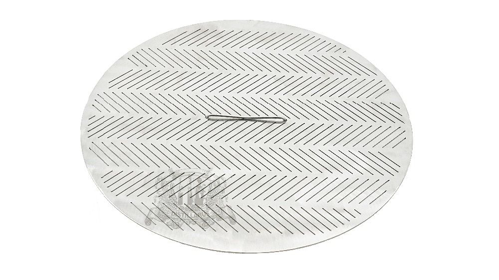 NEW Slit False bottom 345mm, 2 mm thickness, cut size 0.8mm, with handle , Stainless steel 304