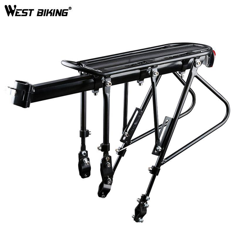 WEST BIKING Bike Carrier Rack Bike Luggage Stand Aluminum Alloy + Steel Cycling Cargo Racks 140 KG Load-bearing Bicycle Racks