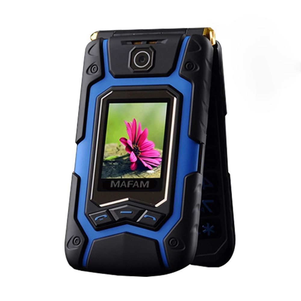 Flip Terre X9 Double Grand Écran Rover Écran Tactile Double Sim Rapide Rapide Cadran Grande Clé Russe En Plastique Portable Senior téléphone P008 X10