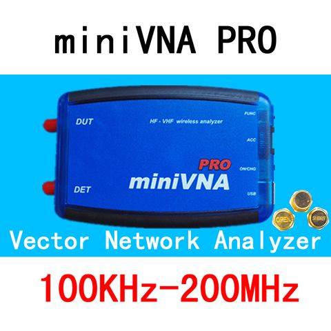 VNA 100K-200MHz Vector Network Analyzer miniVNA PRO VHF/NFC/RFID RF Antenna Analyzer VNA Signal Generator SWR/S-Parameter/Smith