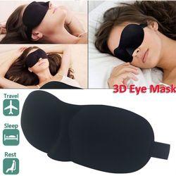 3D сна маска на глаза для сна маска-козырек для глаз оттенок покрытия глазную повязку Для женщин Для мужчин мягкие Портативный повязка путеш...