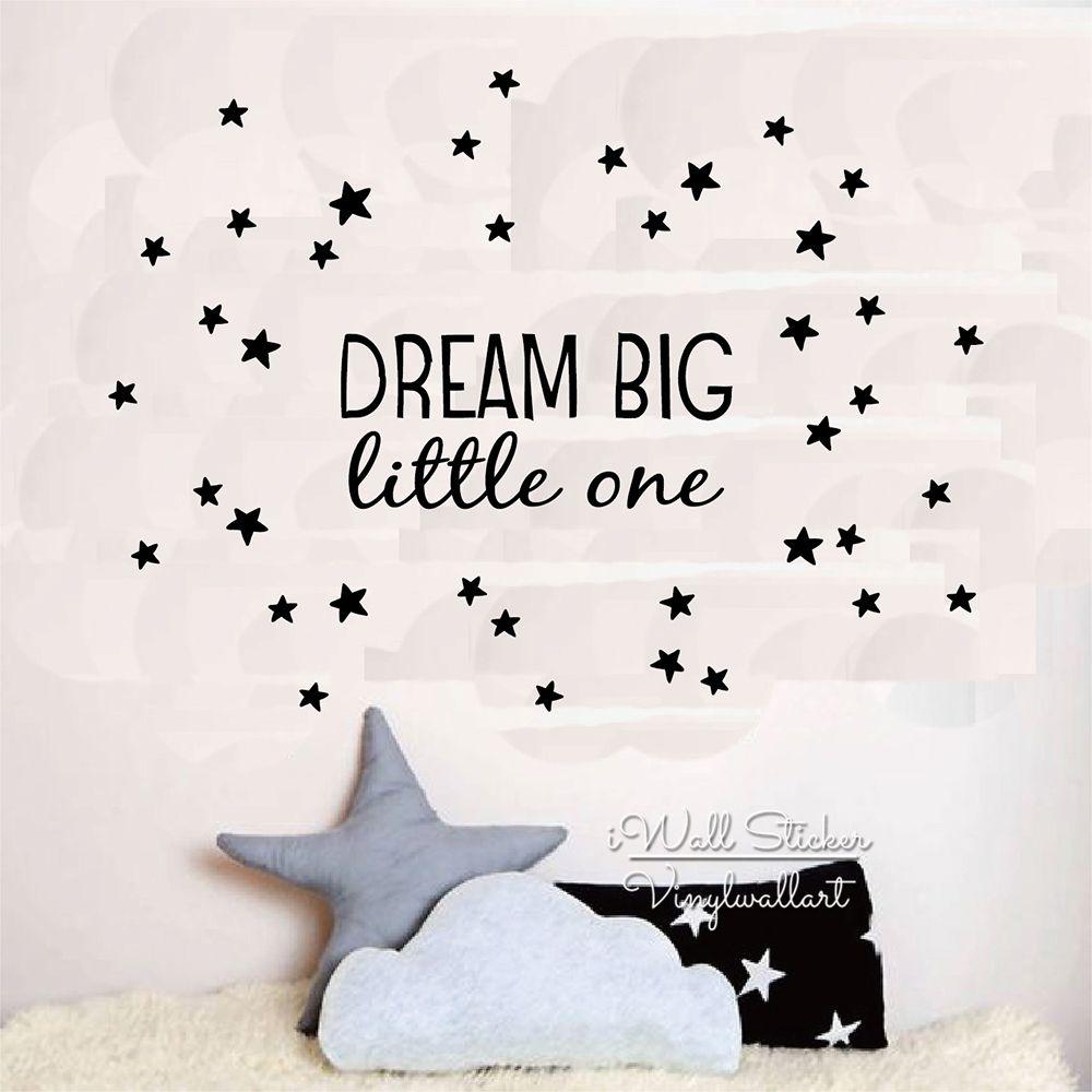 Dream Big малыш Цитата стены Стикеры дети стены кавычки наклейки детская комната Наклейка на стену DIY Съемный Настенный декор с винил q222