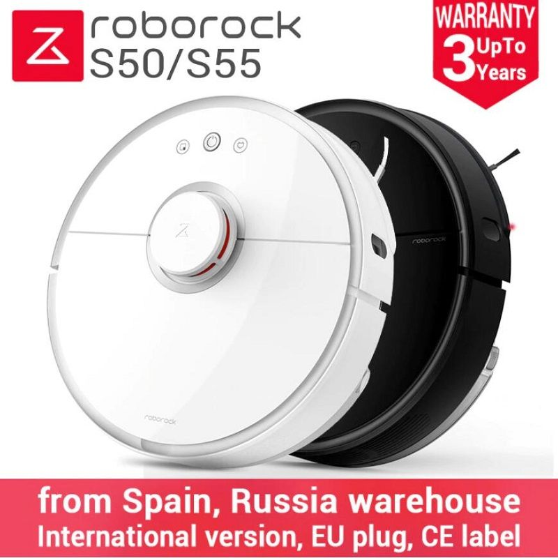 2018 Newest Roborock S50 Black S55 Robot Vacuum Cleaner 2 Home Automatic Sweeping Dust Sterilize Smart Planned Washing Mopping