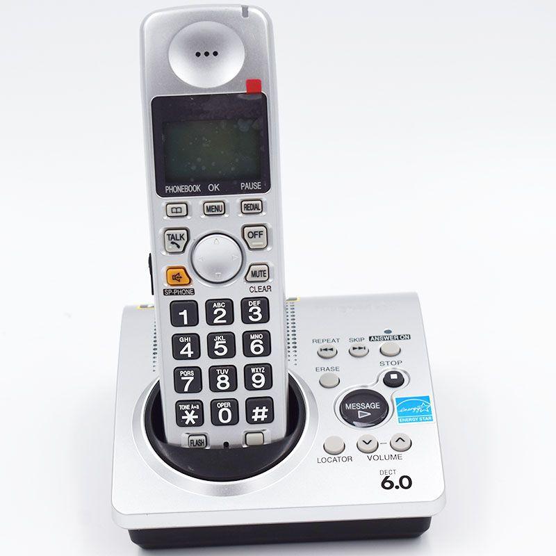 1.9 GHz Numérique Dect 6.0 Call ID Sans Fil Téléphone Sans Fil Intégré horloge Voix Mail Rétro-Éclairé LCD avec Répondeur Pour La Maison B